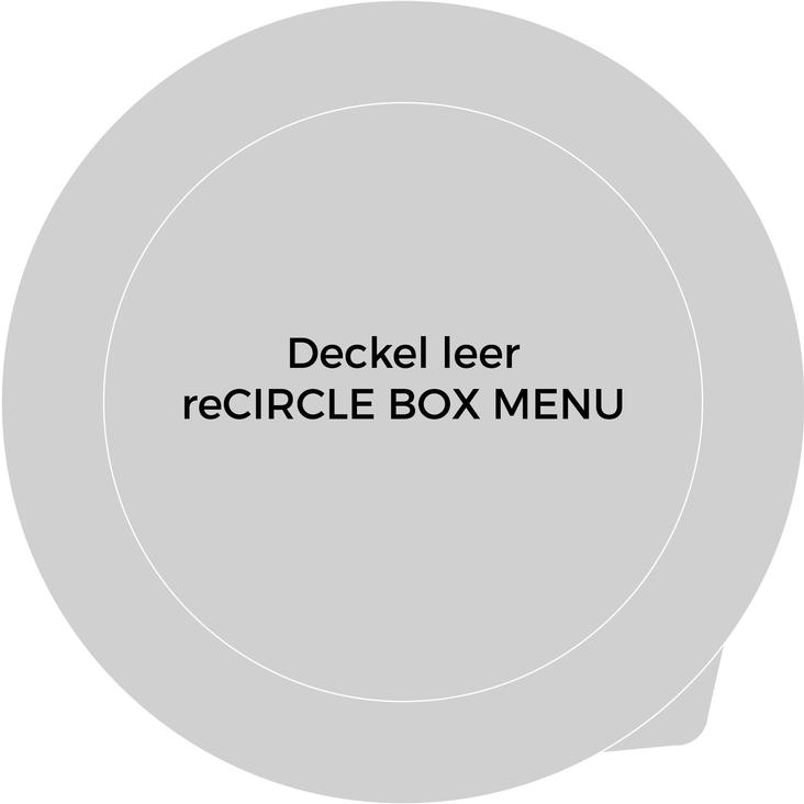 Coperchio BOX MENU vuoto